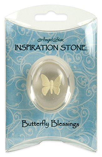 Angelstar 1-1/2-Inch Angel Worry Stone, Butterfly