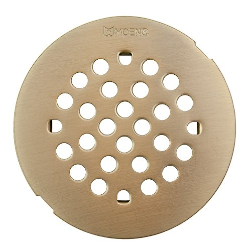 Moen 101663BNMOENF Kingsley 4-1/4-Inch Snap-In Shower Drain Cover, Brushed Nickel good