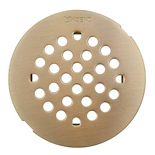 Nickel Shower Drain (Moen 101663BNMOENF Kingsley 4-1/4-Inch Snap-In Shower Drain Cover, Brushed Nickel)