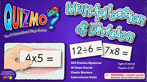 Learning Advantage Quizmo Multiplication and Division Math Game Classroom ()