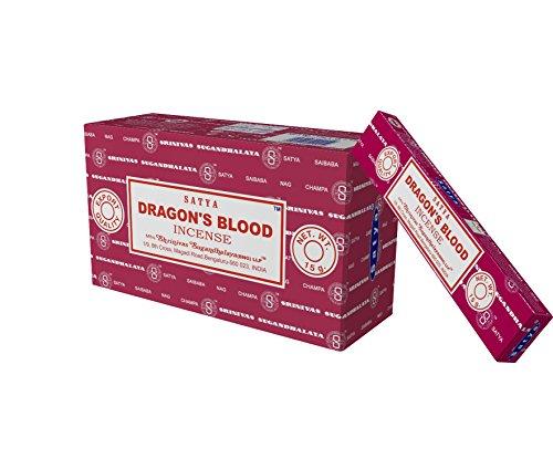 Satya Champa Dragon's Blood Incense Stick, 12 Count
