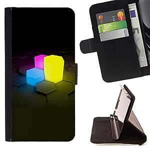 - Neon Cubes/ Personalizada del estilo del dise???¡¯???¡Ào de la PU Caso de encargo del cuero del tir???¡¯????n del s - Cao - For Apple Iphone 6 PLUS 5.5