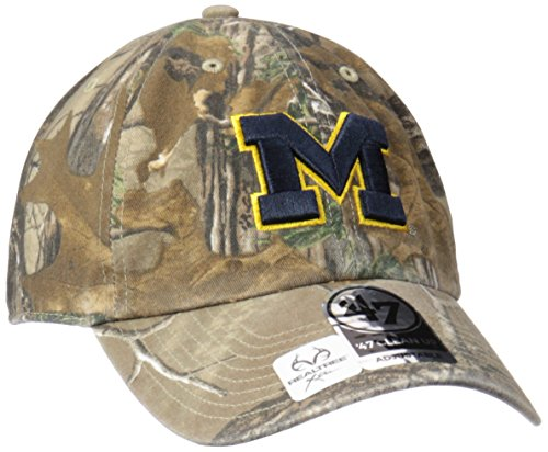 NCAA Michigan Wolverines Realtree Clean Up Adjustable Hat, One Size, Realtree Camo - Michigan Wolverines Camo