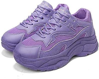 Zapatillas Deportivos Mujer Running Zapatos De Plataforma Fondo Grueso Zapatillas De Deporte Casual Zapatos Planas: Amazon.es: Zapatos y complementos