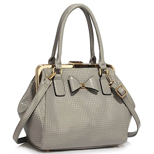 Bags Faux 258 Tote Holiday Leather Handbags Shoulder grey Cws00258b LeahWard Women's qxwBfFZTP