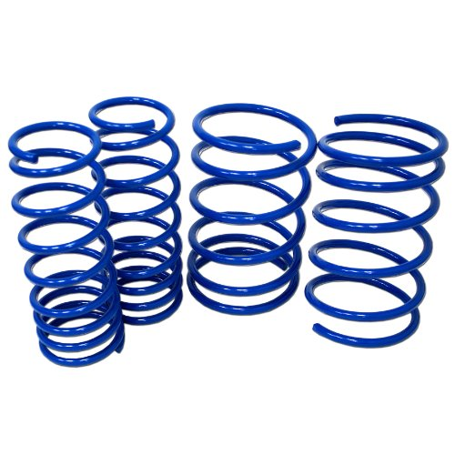 - TuningPros LS-097-B Lowering Springs Kit Blue Set of 4