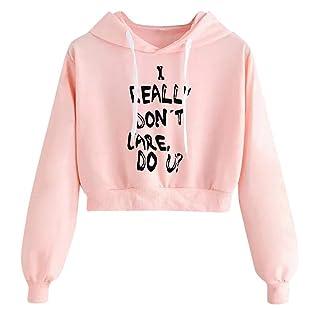 GIFC Clearance Womens Letters Long Sleeve Tops ❤️ Hoodie Sweatshirt Pullover Blouses