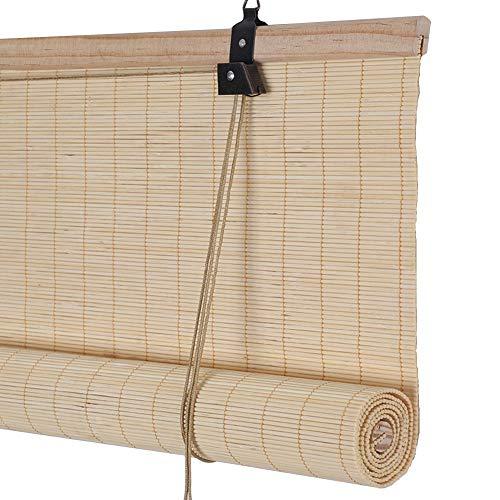 WENZHE Persiana Enrollable Romanas Estores De Bambú Persiana Enrollable Sombreado Prueba De Moho Casa Sala De Te Pantalla...