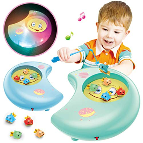 Clearance! DDLmax Magnetic Fishing Game –Toddler Wooden Magnet Fish Educational Toys for Kids ()