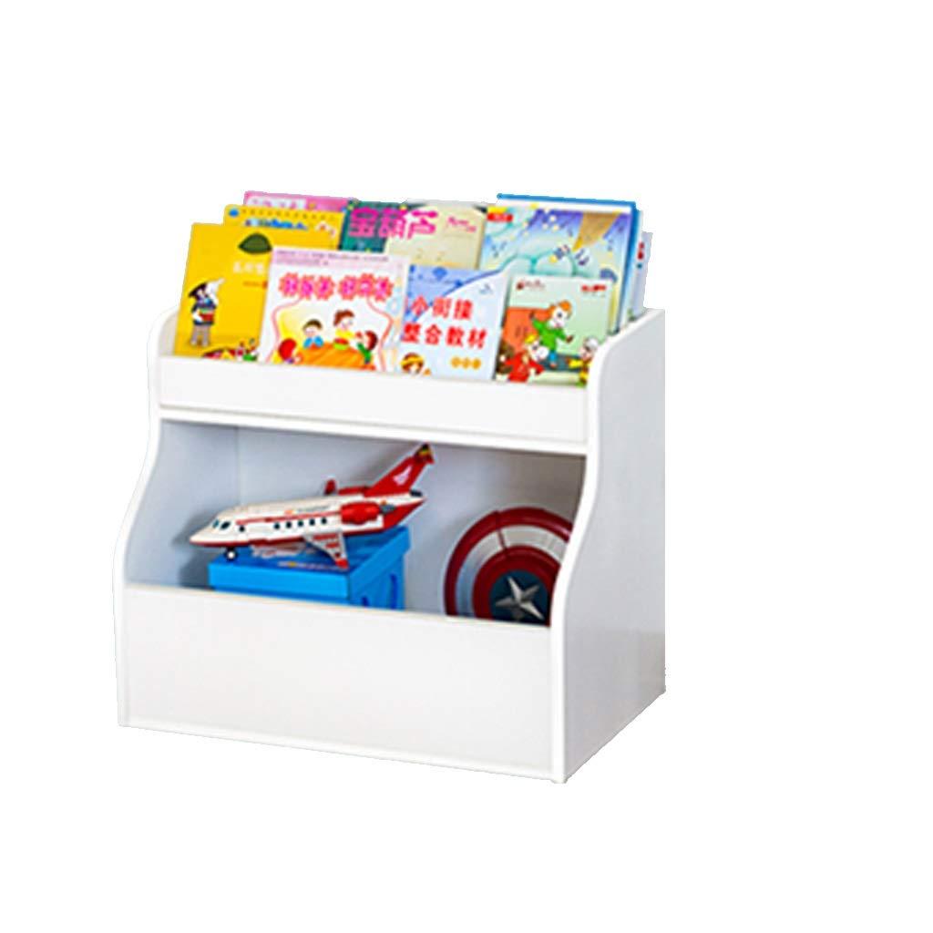 収納ラック 子供用本棚 ベビー本棚 ソリッドウッド製本棚 図鑑ラック ベビーフロア本棚 おもちゃ2台収納棚 幼稚園ラック 白 (Color : A, Size : 70*36*50cm) B07SNV9LJ5 A 70*36*50cm