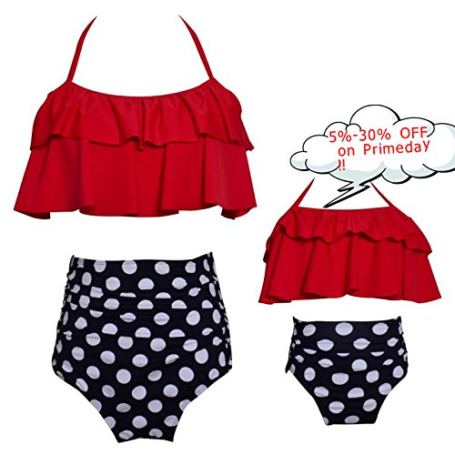 Kakawayi Mother and Daughter Swimwear Family Matching Swimsuit Girls Swimwear ()