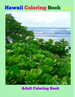 hawaii coloring book vol 3 adult coloring book volume 3 - Hawaii Coloring Book