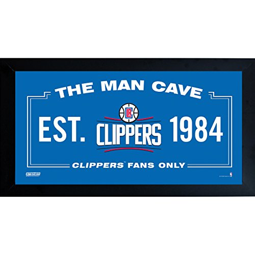 Los Angeles Clippers Photograph (Los Angeles Clippers Man Cave Sign 10 Inch X 20 Inch Custom Framed)