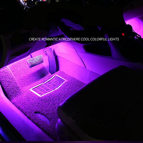 IREALIST 18 LED RGB Car Sound-activated Interior Light Strips Waterproof Strip LightLamp Lighting Set with IR Remote Control