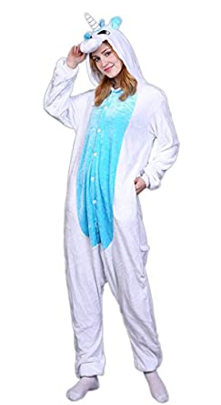 Amazon.com  Unisex Adult Unicorn Homewear Pajamas Flannel Onesie Cosplay  Animal Costume For Women   Clothing e981dfb76