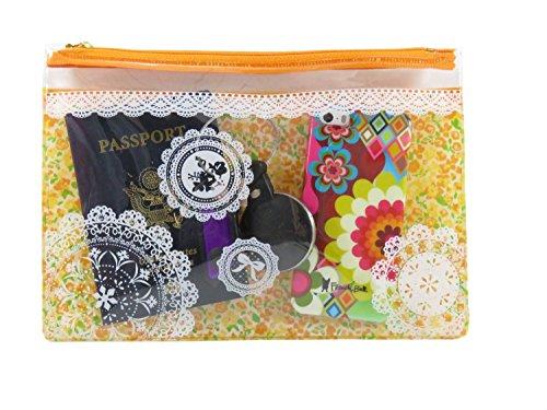 Gabbana Shimmer (Mini Travel/Cosmetic Zipper Bags Vinyl Pink and Orange (2 Piece))