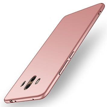 Funda Huawei Mate 10, Apanphy Alta calidad Ultra Slim Hard sedoso Scrub Shell plena protección trasera piel siento cover para Huawei Mate 10 Oro Rosa
