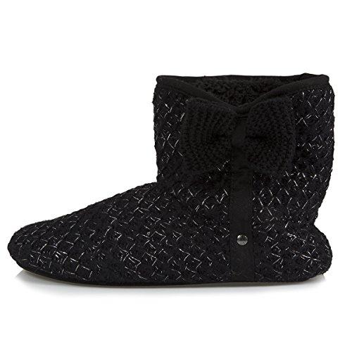 Zapatillas Por Isotoner Negro Estar Mujer Casa De dH40n4