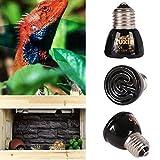 25 watt infrared bulb - Woopower 110V/220VPet Heating Light Bulb E27 25W 50W 75W 100W Mini Infrared Ceramic Emitter Heat Lamp Bulb Black For Reptile Pet Brooder