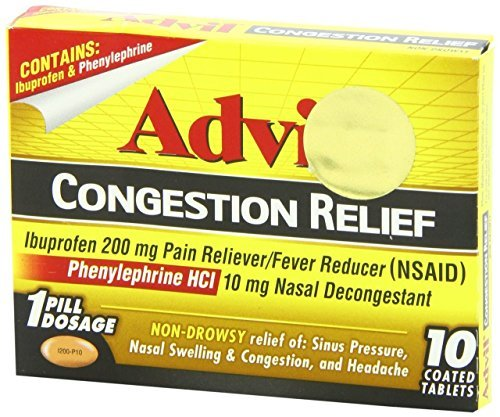 Advil Cold and Sinus Caplets, 10 Count