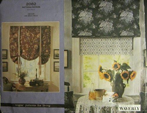 Vogue 2082 Waverly Pattern Roman Shade