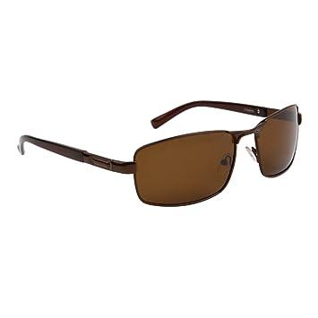 lunettes de soleil polarisantes polarisées sport verres polarisés homme femme cts8095 (branches marron verres marron, largeur:131mm hauteur:40mm)