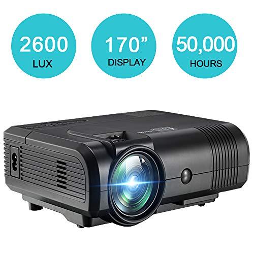 - Video Projector DIWUER Mini Movie Projector Full HD 1080P LCD Home Theater Multimedia Projector PC Smartphone Support HDMI VGA USB AV TF Input