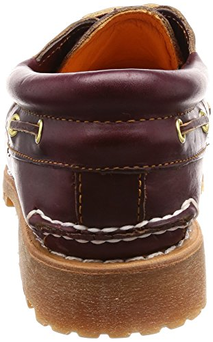 Timberland Authentics 3 Eye Classic, Zapatos del Barco para Hombre Marrón (Burgundy Pull Up)