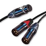 xlr to split 1 4 - Neutrik 1 m Balanced Stereo Y Cable