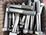 Bolt Stainless Steel ABP S30400 5 1/2''L x 3/4'' Hex top of hex 1'' LOT of 10 bolts