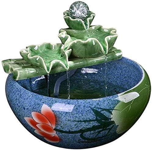 水槽の装飾デスク水族館テーブル水槽の室内装飾加湿自然の風景家の装飾屋内噴水(サイズ:L)