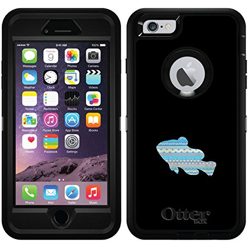 Tribal Fish design on Black OtterBox Defender Series Case for iPhone 6 Plus and iPhone 6s Plus ()