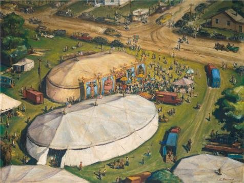 Louis Rams Lamp - polyster Canvas ,the High Resolution Art Decorative Prints on Canvas of oil painting 'Harry Louis Freund,Circus,about 1935', 16x21 inch / 41x54 cm is best for Bedroom artwork and Home gallery art and Gifts