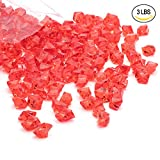 red acrylic crystals - Acrylic Gems Ice Crystal Rocks for Vase Fillers, Party Table Scatter, Wedding, Photography, Party Decoration, Crafts by Royal Imports, 3 LBS (approx 580-600 gems) - Red