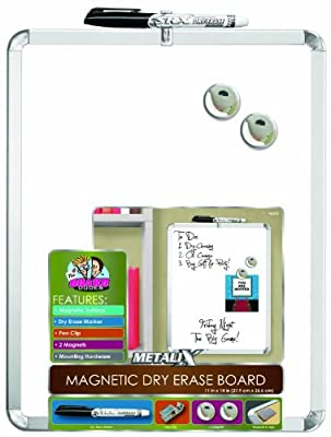 """Board Dudes 11"""" x 14"""" Metalix Magnetic Dry Erase Board, Colors May Vary (45000UA-4)"""