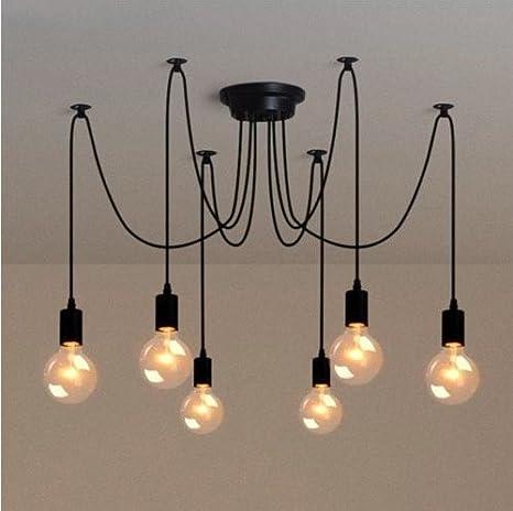 La Industria Retro DIY Colgante lámpara iluminación de techo ...