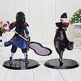 Game, Fun, 2pcs/set 18cm Naruto Uchiha Madara Sasuke pvc action figure toys Naruto figure, Toy, Play