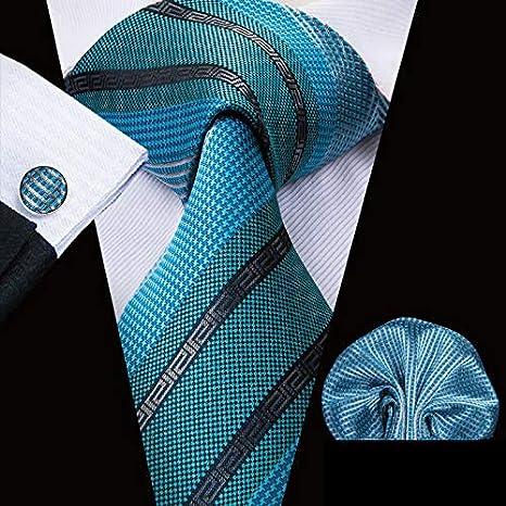 HYCZJH Corbatas para Hombre de Seda Verde para Hombres 8.5 ...