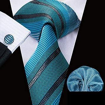 HYCZJH Corbatas para Hombre de Seda Verde para Hombres 8.5 cm ...