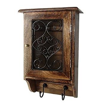 Elegant Vian Craftsmanu0027 Wooden Wall Hanging Decorative Key Box /Key Rack Cabinet /Hanger