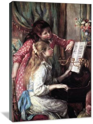 Girls at The Piano 24″ x 36″ Gallery Wrapped Canvas Wall Art