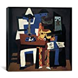"Museum quality Three Musicians By Pablo Picasso Canvas Print #14100 - 12""x12"" (.75"" inch deep). The art piece comes gallery wrapped, ready for wall hanging with no additional framing required. This print is also available in multi-piece or oversized ..."