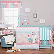 Trend Lab Wild Forever 3 Piece Crib Bedding Set, Pink/Teal