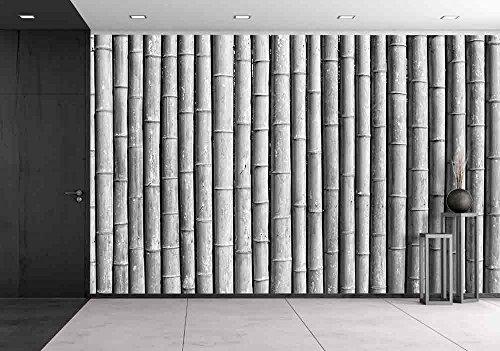 Bamboo Wall Black and White