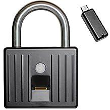iFingerLock Fingerprint Biometric Padlock - The Smallest In The World. (Black)