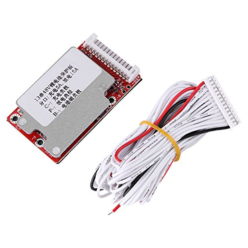 Hilitand Li-Ion Li-Polymer Battery Pack Protection Board Automatic Activation BMS Module for 13S 48V/54.6V ()