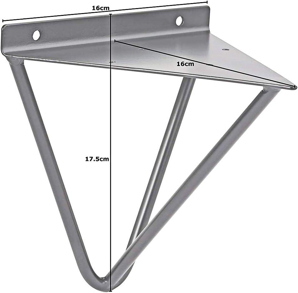 Soportes de estante de horquilla (juego de 2), soportes de estante de triángulo de trípode, soporte de esquina decorativo apoyador de estante montado en la pared con tornillos: Amazon.es: Bricolaje y herramientas