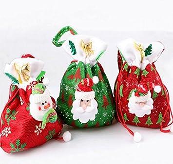 Veewon 3 x Navidad bolsas de dulces bolsa de regalo de Papá ...
