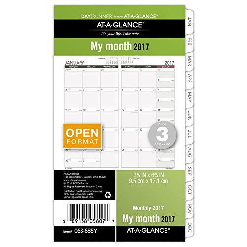 Runner Monthly Planner Refill 063 685Y