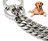 New Ultra Strong Heavy Chain Dog Training Pit bull Dog Collar -Heavy Duty Stainless Steel Slip Chain Collar - Best for Pit Bull, Mastiff, Bulldog, & Big Breeds